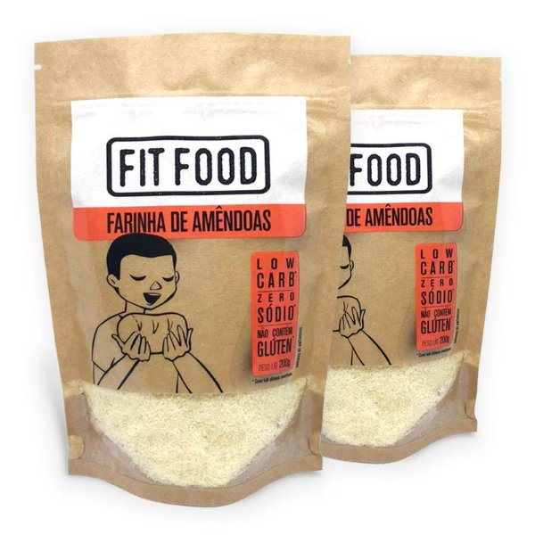 Kit 2 Farinha de Amendoas Fit Food 200 gramas