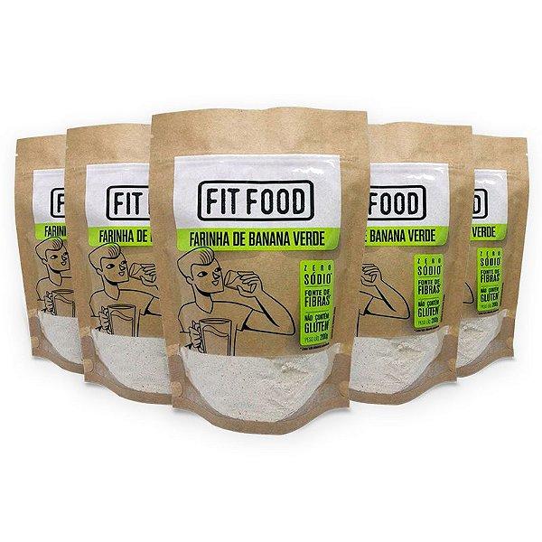 Kit 5 Farinha Banana Verde Fit Food 200 gramas
