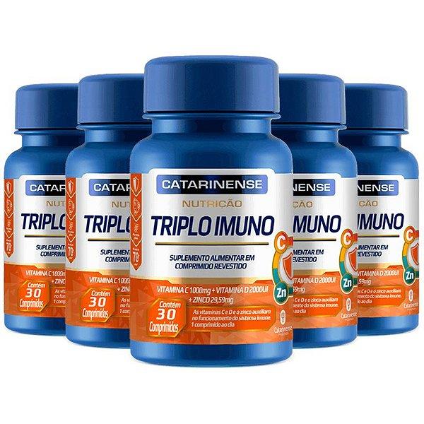 Kit 5 Triplo Imuno Catarinense  30 Capsulas