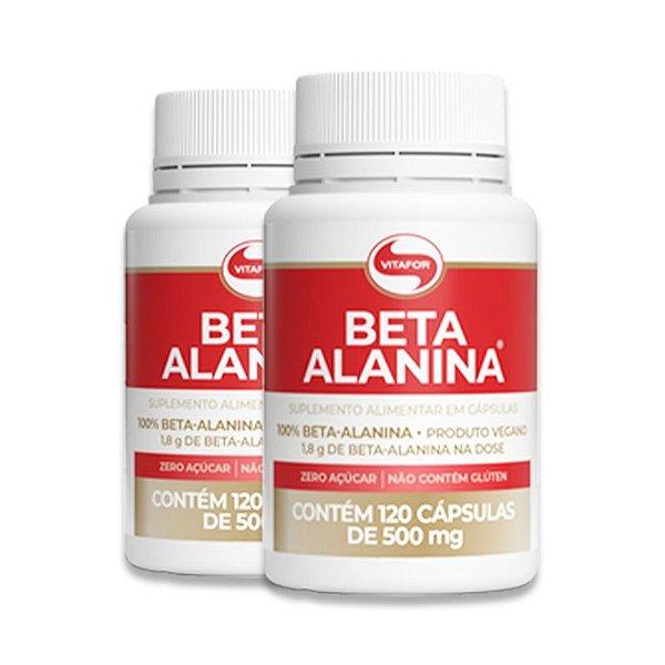 Kit 2 Beta Alanina Vitafor 120 Cápsulas