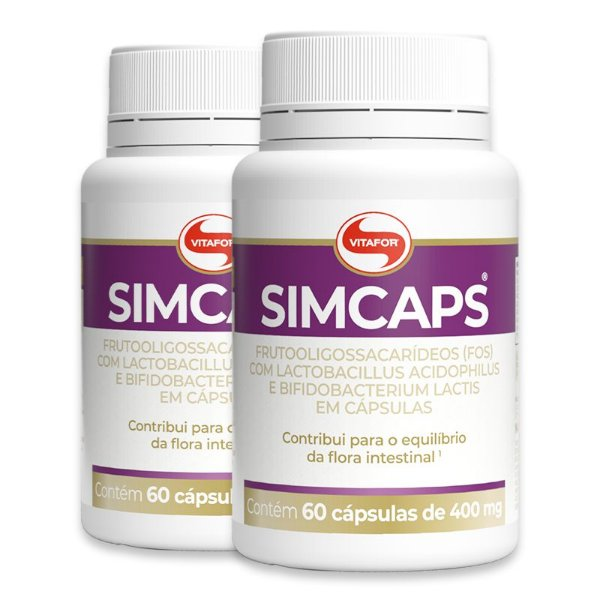 Kit 2 Simcaps Vitafor 60 cápsulas