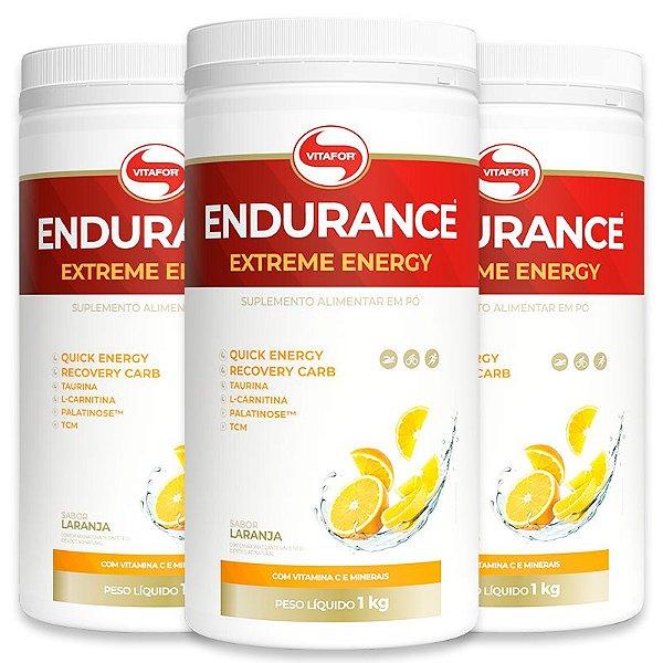 Kit 3 Endurance Extreme Energy 1000g Vitafor