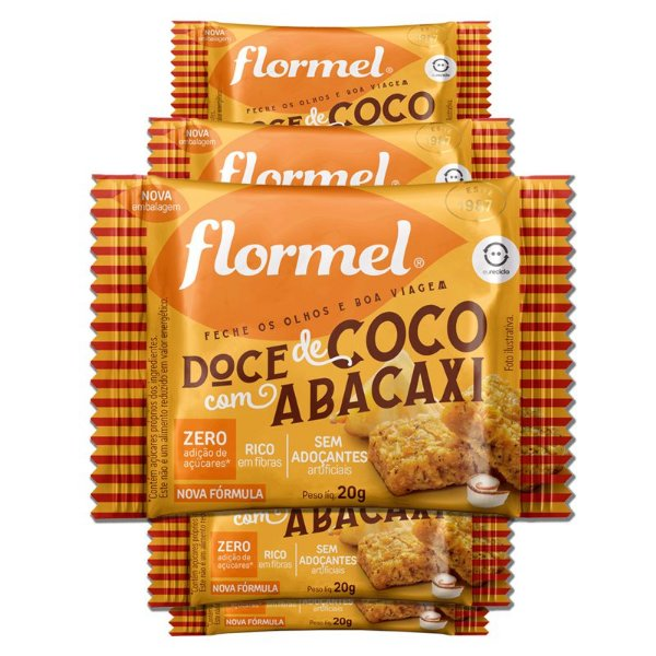 Kit 5 Doce de Abacaxi com Coco Zero Açúcar Flormel