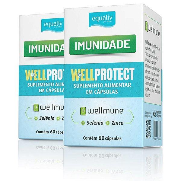 Kit 2 Imunidade Wellprotect com Wellmune Equaliv 60 cápsulas