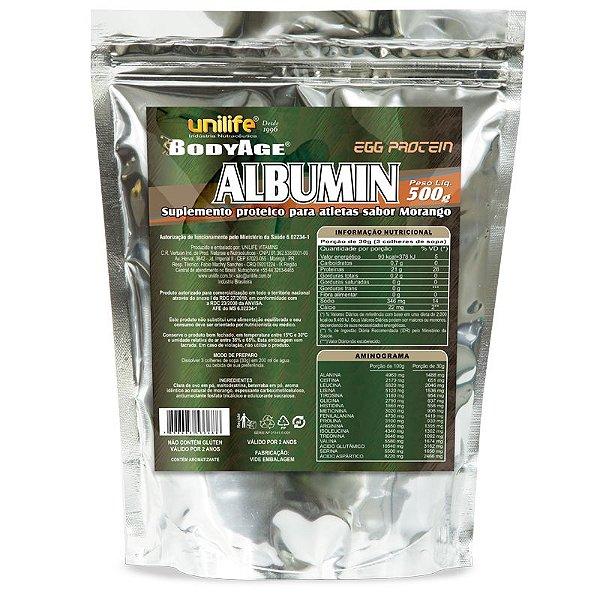 Albumina Egg Protein Morango 500g Unilife