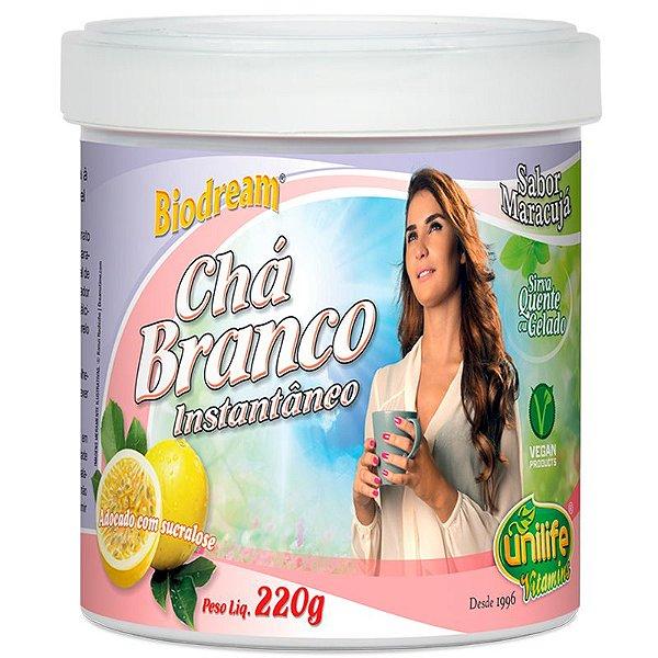 Chá Branco solúvel Sabor Maracuja 220g Unilife