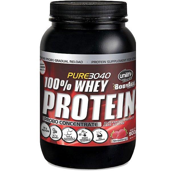 Whey Protein Concentrado Pro80 900g Morango Unilife