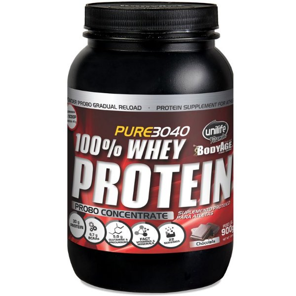 Whey Protein Concentrado Pro80 900g Chocolate Unilife