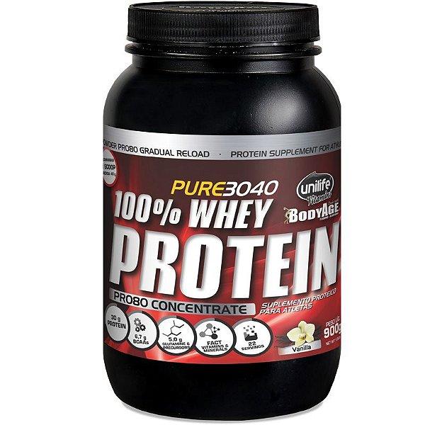 Whey Protein Concentrado Pro80 900g Baunilha Unilife