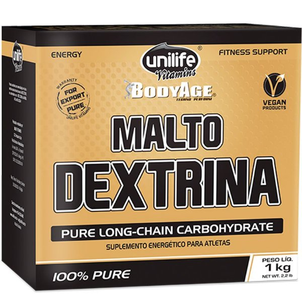 Maltodextrina 1kg sabor natural Unilife