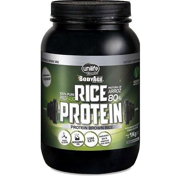 Rice Protein 1kg Proteína vegetal Unilife natural