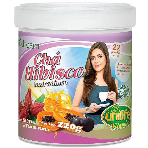 Chá de hibisco solúvel 220g Unilife
