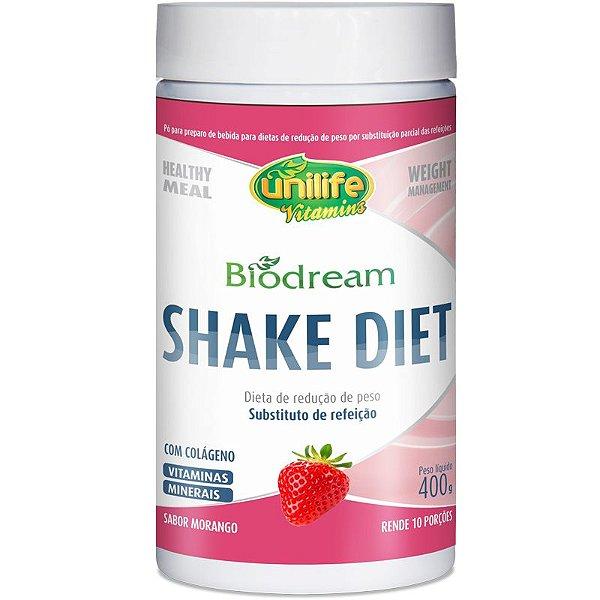 Shake Diet Biodream 400g Sabor Morango Unilife