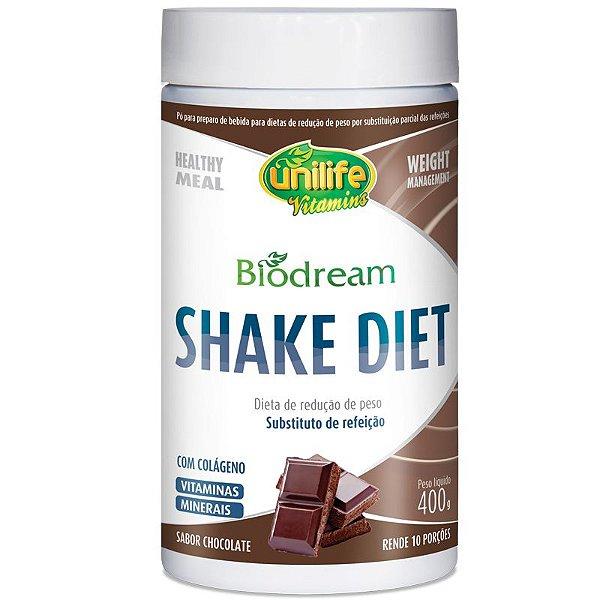 Shake Diet Biodream 400g Sabor Chocolate Unilife