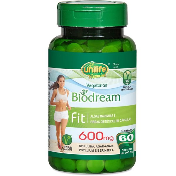 Emagrecedor natural  Biodream 60 cápsulas Unilie