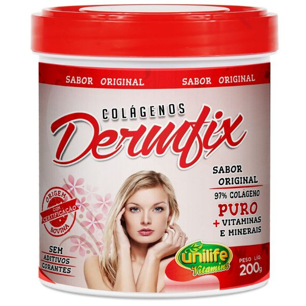 Colágeno Hidrolisado Dermfix 200g em pó Unilife