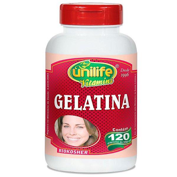 Gelatina 120 cápsulas Unilife