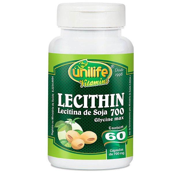 Lecitina de soja 700mg Unilife 60 Cápsulas