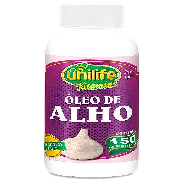 Óleo de Alho 350mg Unilife 150 cápsulas