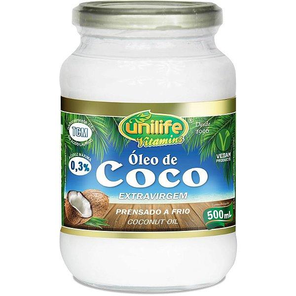 Óleo de Coco Extra Virgem 500ml Unilife