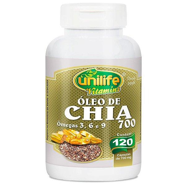 Óleo de Chia 120 cápsulas Unilife