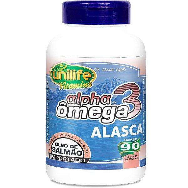 Ômega 3 Alpha Óleo de Salmão 1200mg 90 cápsulas Unilife