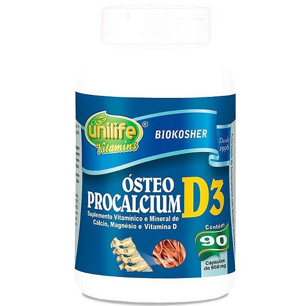 Ósteo Procalcium D3 90 cápsulas Unilife