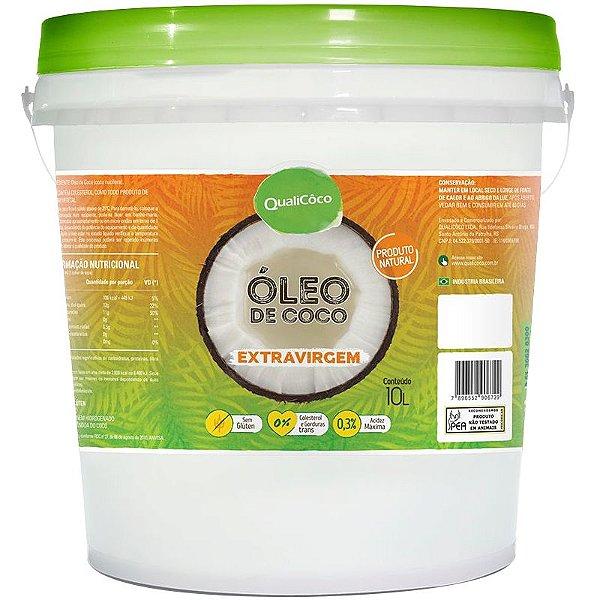 Óleo de Coco Extra Virgem Balde 10kg Qualicôco
