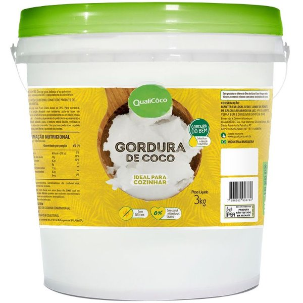 Gordura de Coco Balde 3,2Kg Qualicôco