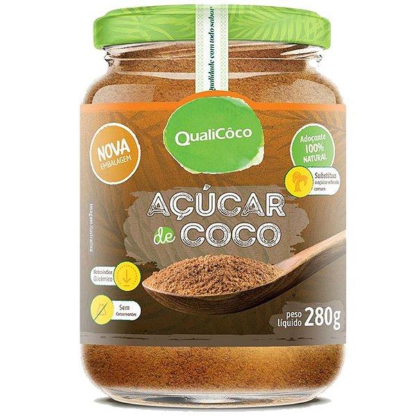 Açúcar de coco 280g natural QualiCôco