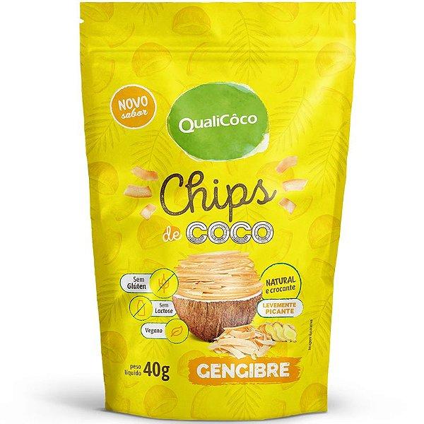Chips de coco 40g Quali Gengibre.