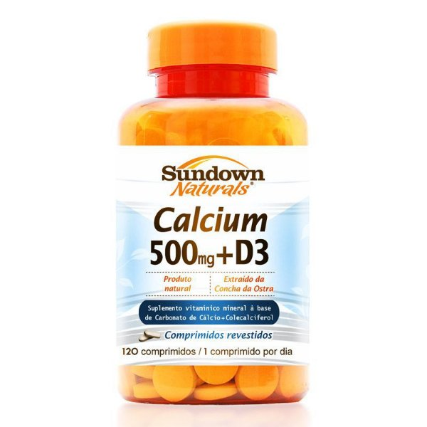 Cálcio 500mg + Vitamina D3 Sundown 120 comprimidos