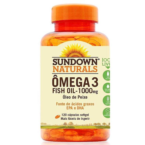Fish Oil Óleo de Peixe 1000mg Sundown 120 cápsulas