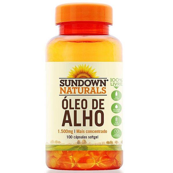 Óleo de Alho 1500mg Sundown 100 cápsulas