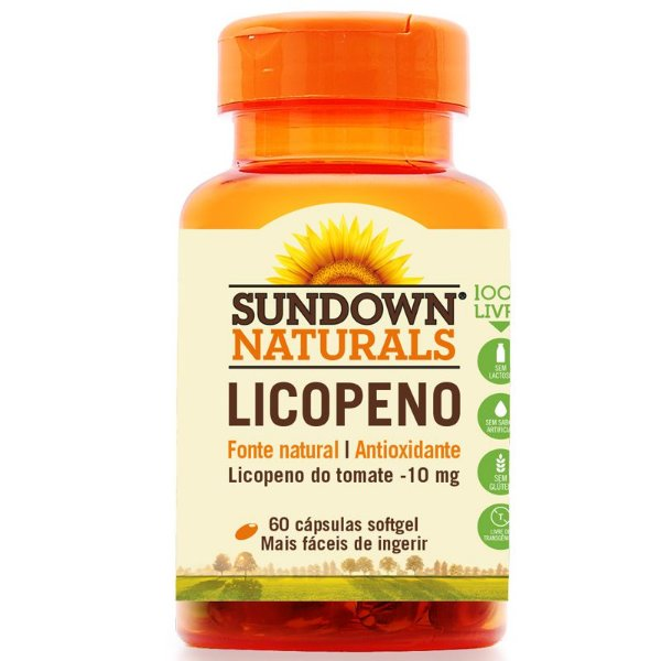 Licopeno 10mg Lycopene Sundown 60 cápsulas