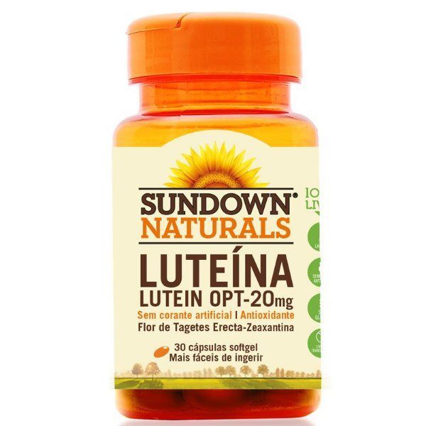 Lutein OPT 20mg  Luteína Sundown 30 cápsulas