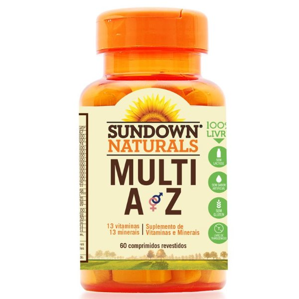 Multi A-Z Mix de Vitaminas e Minerais Sundown 60 cápsulas