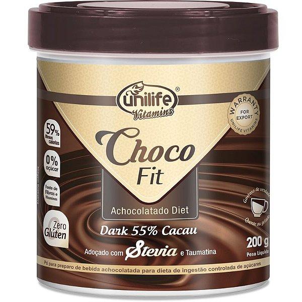 Choco Fit Achocolatado Diet Soluvel Unilife 200g