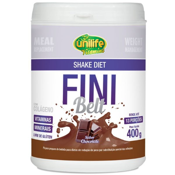 Shake Diet com Colágeno Fini Belt Unilife 400g Chocolate