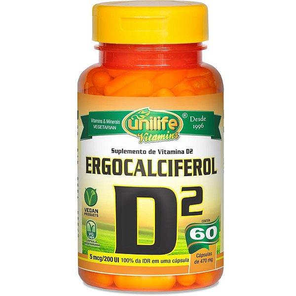 Vitamina D2 Unilife 60 cápsulas