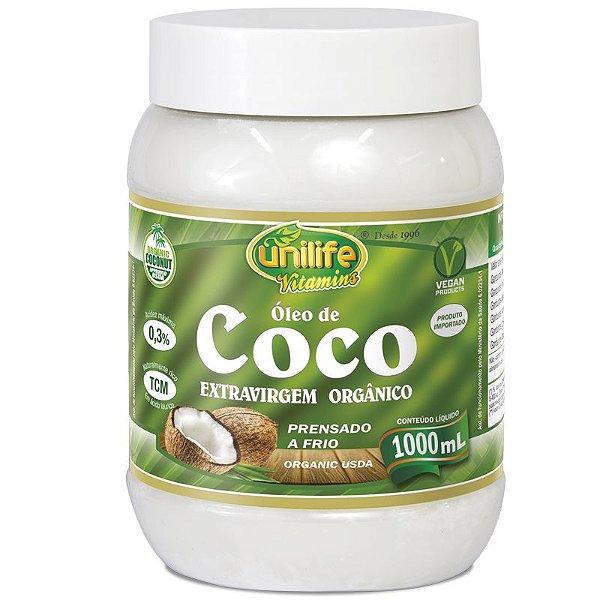 Óleo de Coco Orgânico Extra Virgem Unilife 1 litro