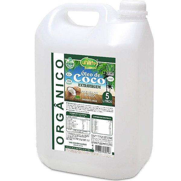 Óleo de Coco Orgânico Extra Virgem Unilife 5 litros