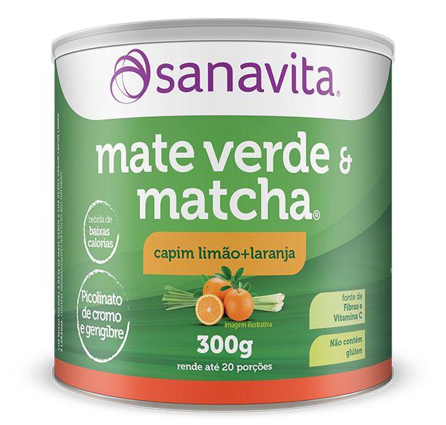 Matcha & Mate Verde 300G Sanavita Capim Limão + Laranja
