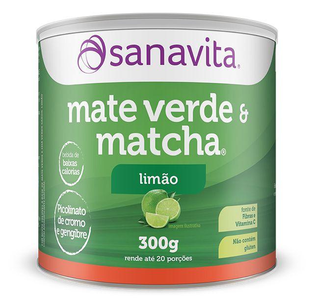 Matcha & Mate Verde 300G Sanavita Limão