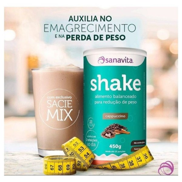 Shake Substituto de refeição Sanavita 450g Cappucino