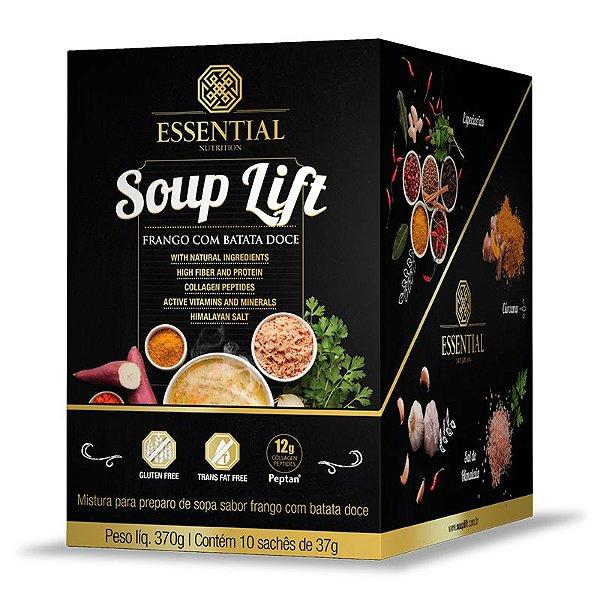 Soup Lift Frango e Batata Doce Essential Nutrition 10 sachês