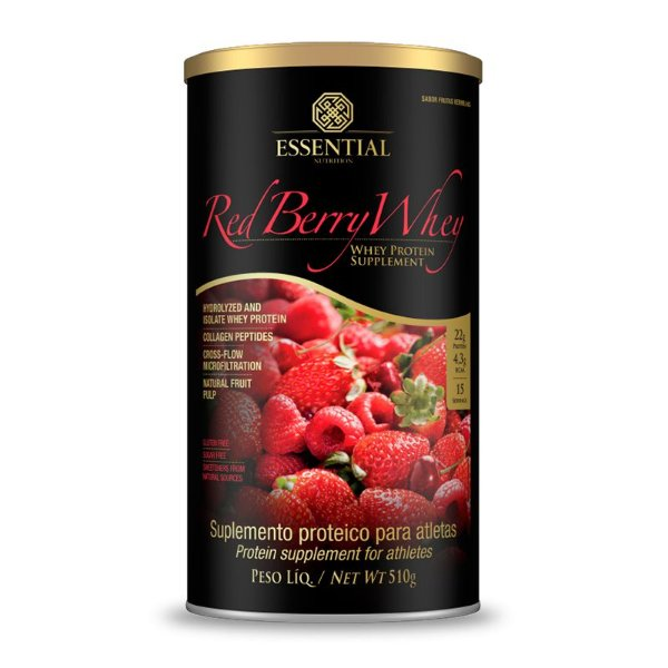 Red Berry Whey Protein Puro Essential Nutrition 510g