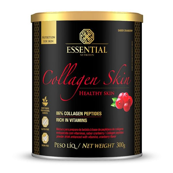 Colágeno Collagen Skin Cranberry Essential Nutrition 300g