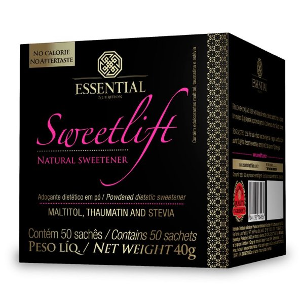 Sweetlift Adoçante Natural Essential Nutrition 50 Sachês