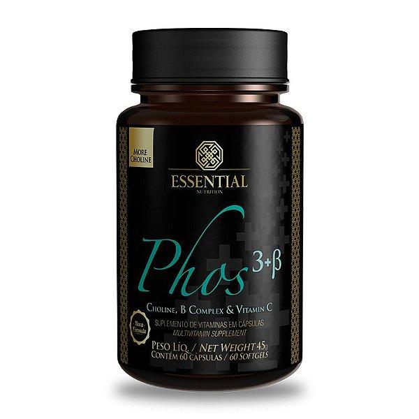 Phos 3 + B 500mg Essential Nutrition 60 Cápsulas